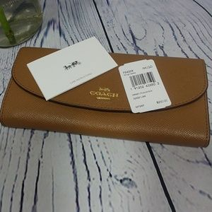🆕️COACH SLIM ENVELOPE LEATHER WALLET